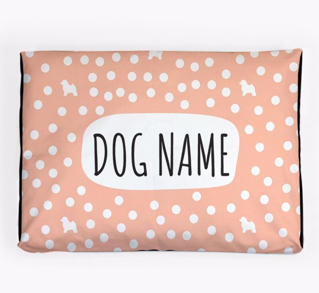Personalised 'Polka Dot' Dog Bed for your Toy Poodle