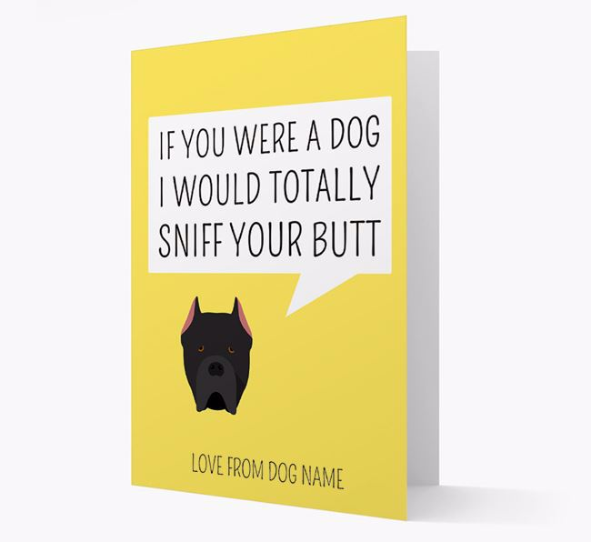 Personalized 'I'd Sniff Your Bum' Card