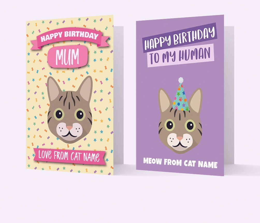 Personalized Cat Cards