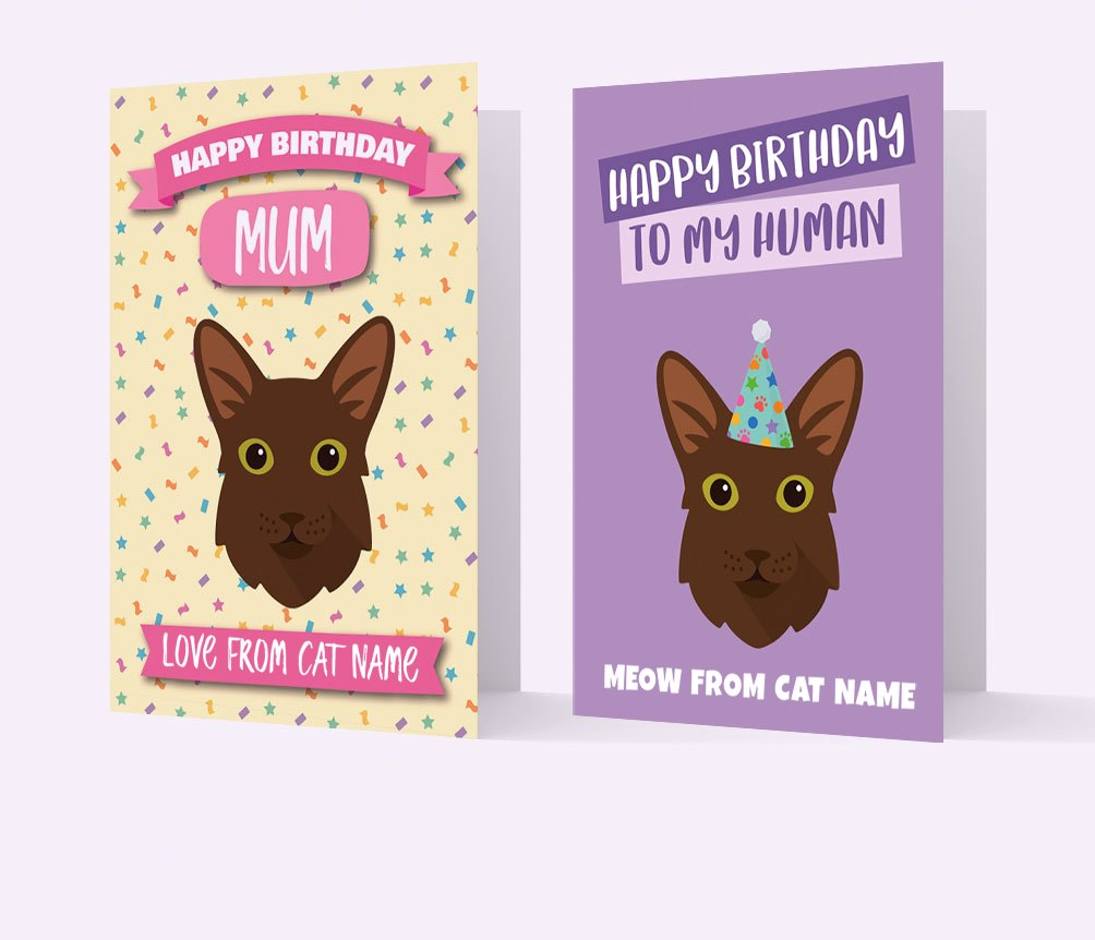 Personalised Cat Cards