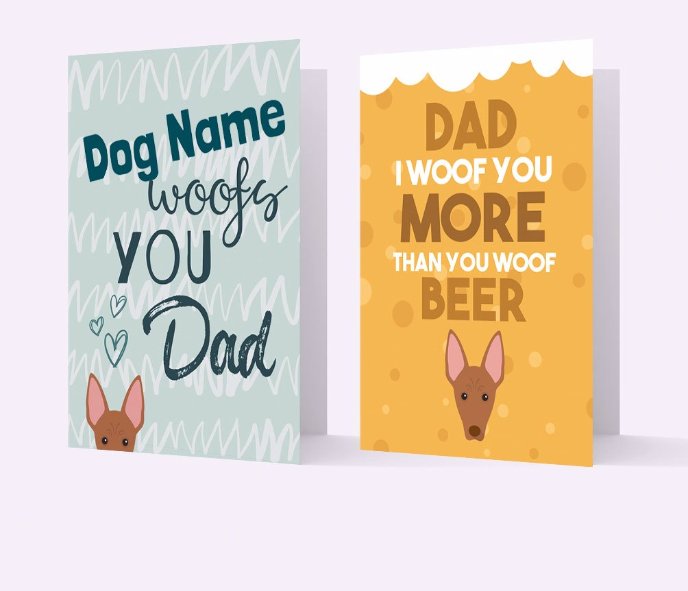 Personalized Father's Day Cards for Dog Dads