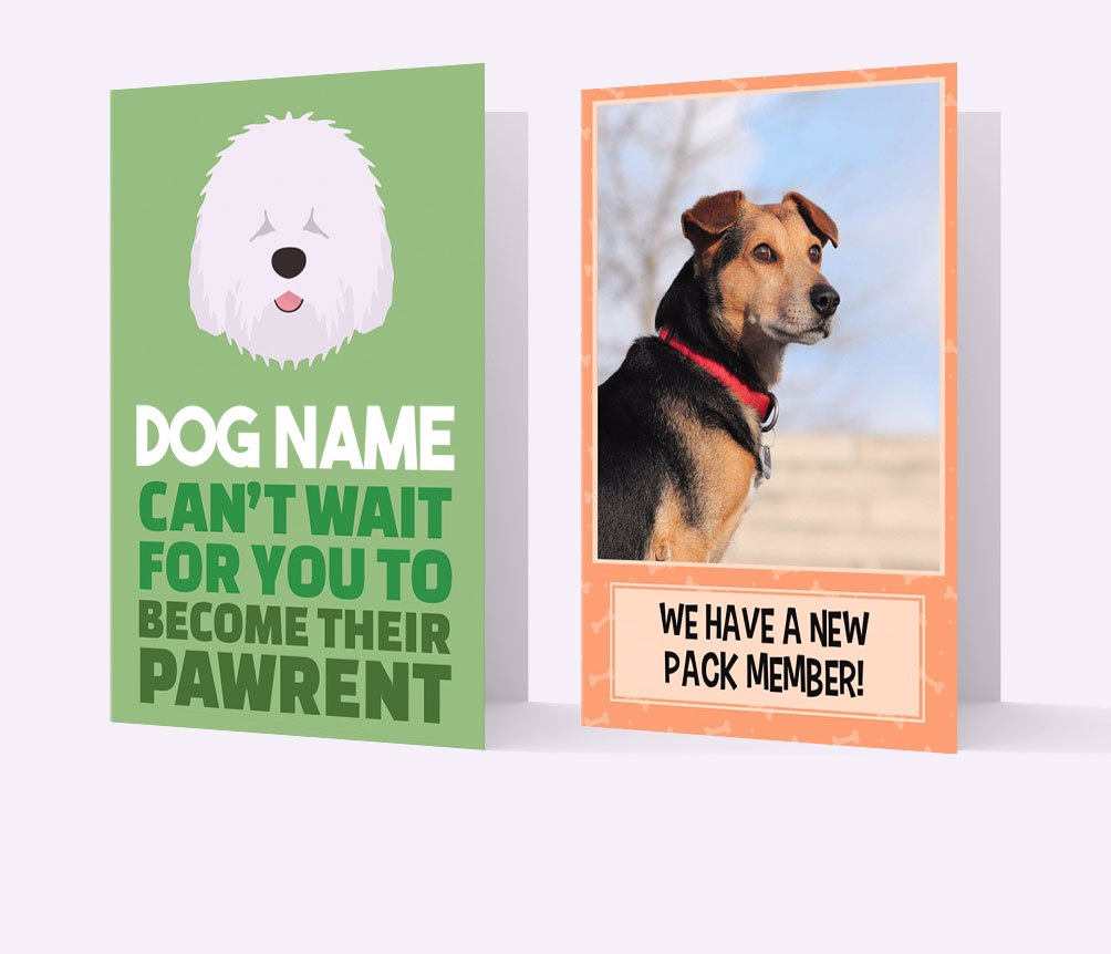Personalised New Puppy Cards