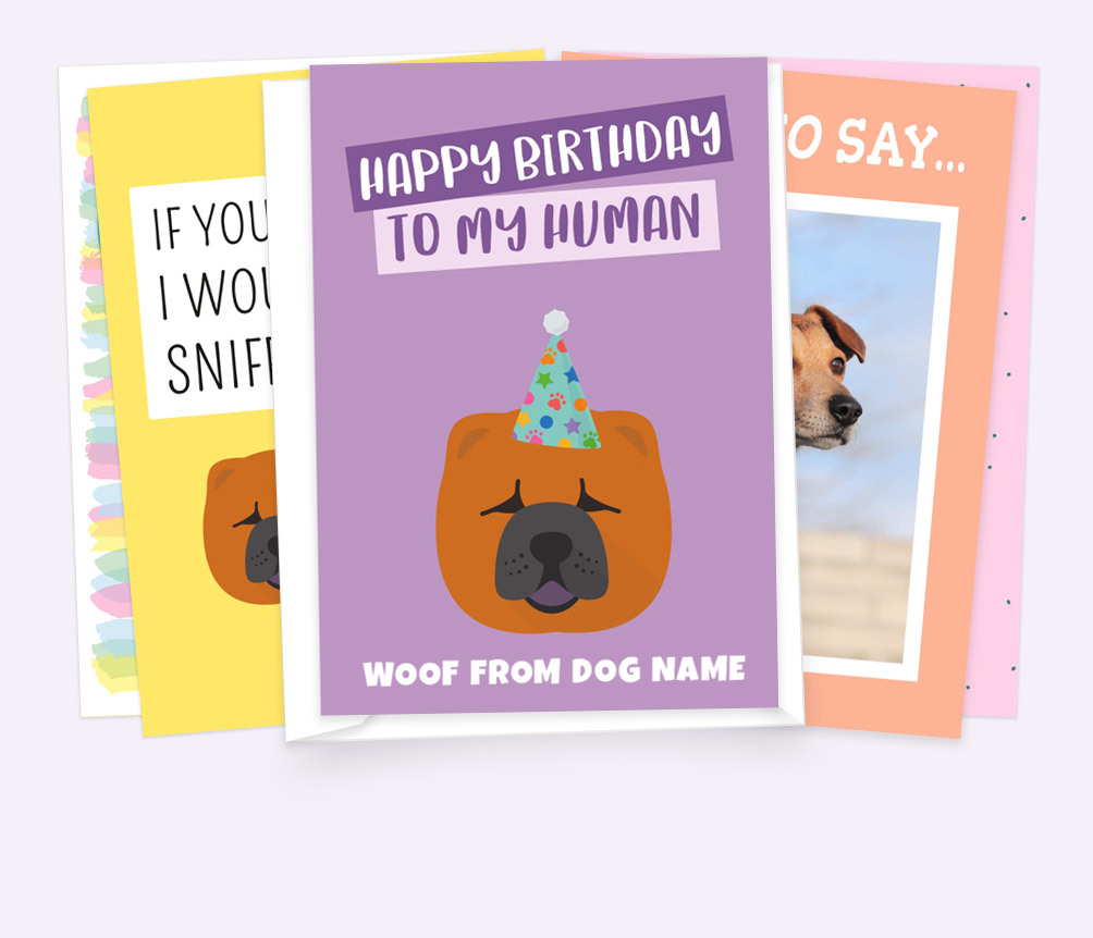 Personalized Dog Cards