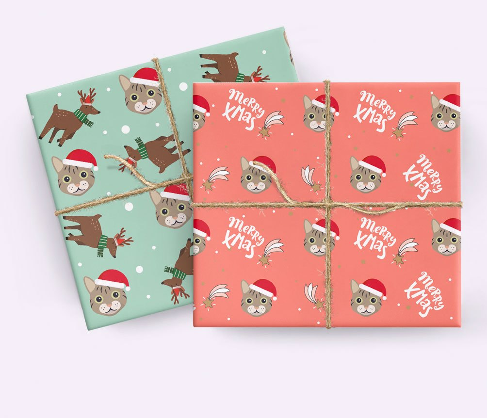 Personalised Cat Wrapping Paper