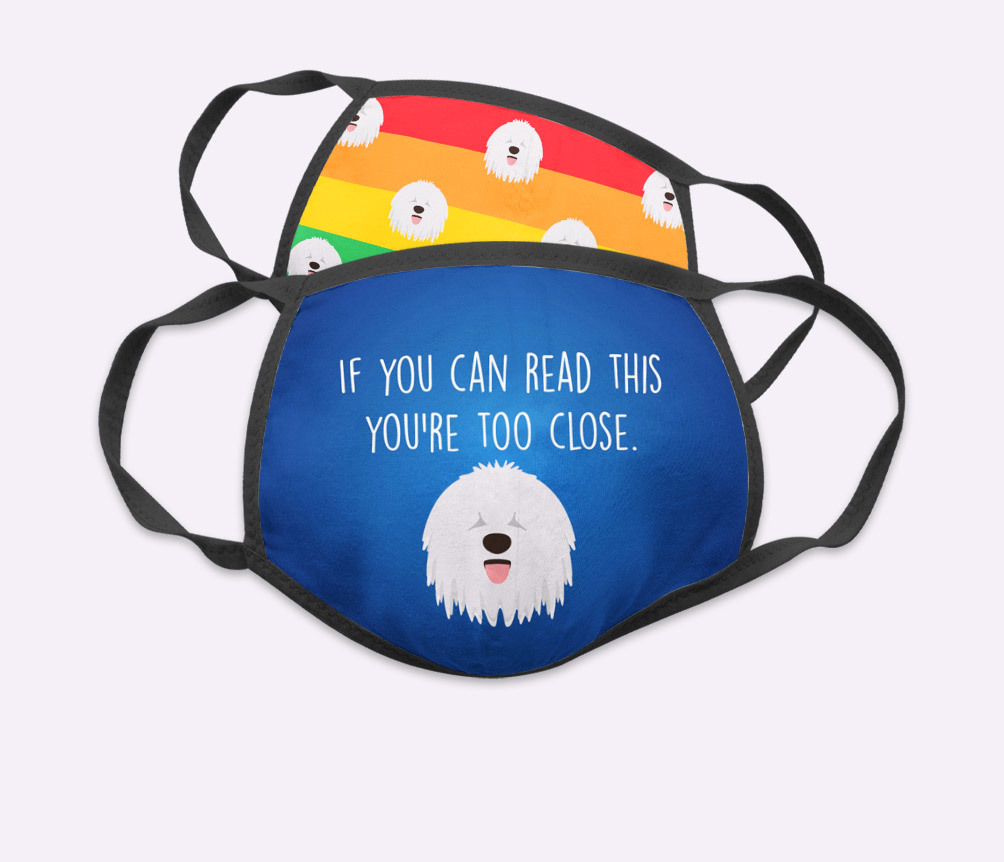 Personalised Face Masks featuring your dog