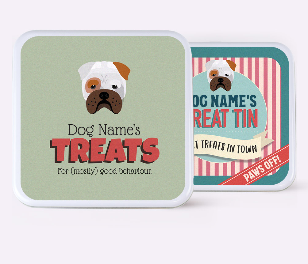 Personalised Dog Treat Tins