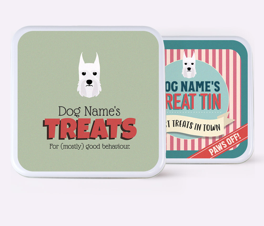 Personalized Dog Treat Tins