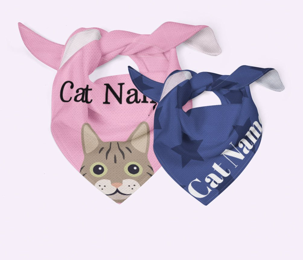 Personalised Cat Bandanas