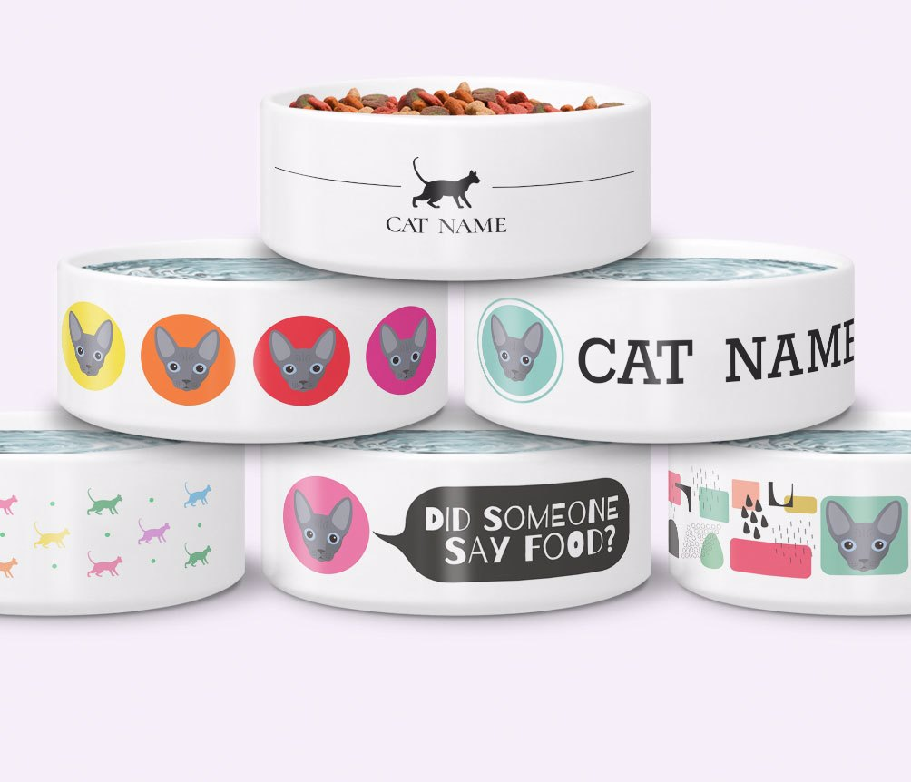 Personalised Cat Bowls