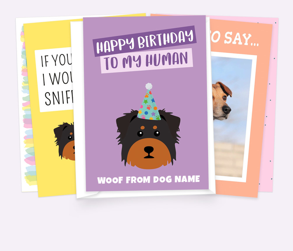 Personalised Dog Cards